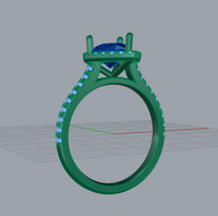 Remake a new ring setting for order 162120126