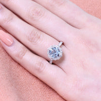 cushion aquamarine engagement ring in white gold vintage inspired band by la more design
