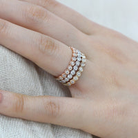 bezel set half eternity band diamond ring rose gold white gold yellow gold by la more design