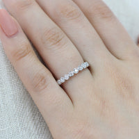 bezel set half eternity band diamond ring white gold by la more design