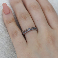 black diamond band half eternity ring rose gold white gold by la more design