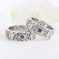 celtic wedding bands white gold diamond sapphire wedding rings la more design jewelry