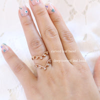 deep curved wedding band vs curved leaf diamond wedding ring rose gold la more design jewelry