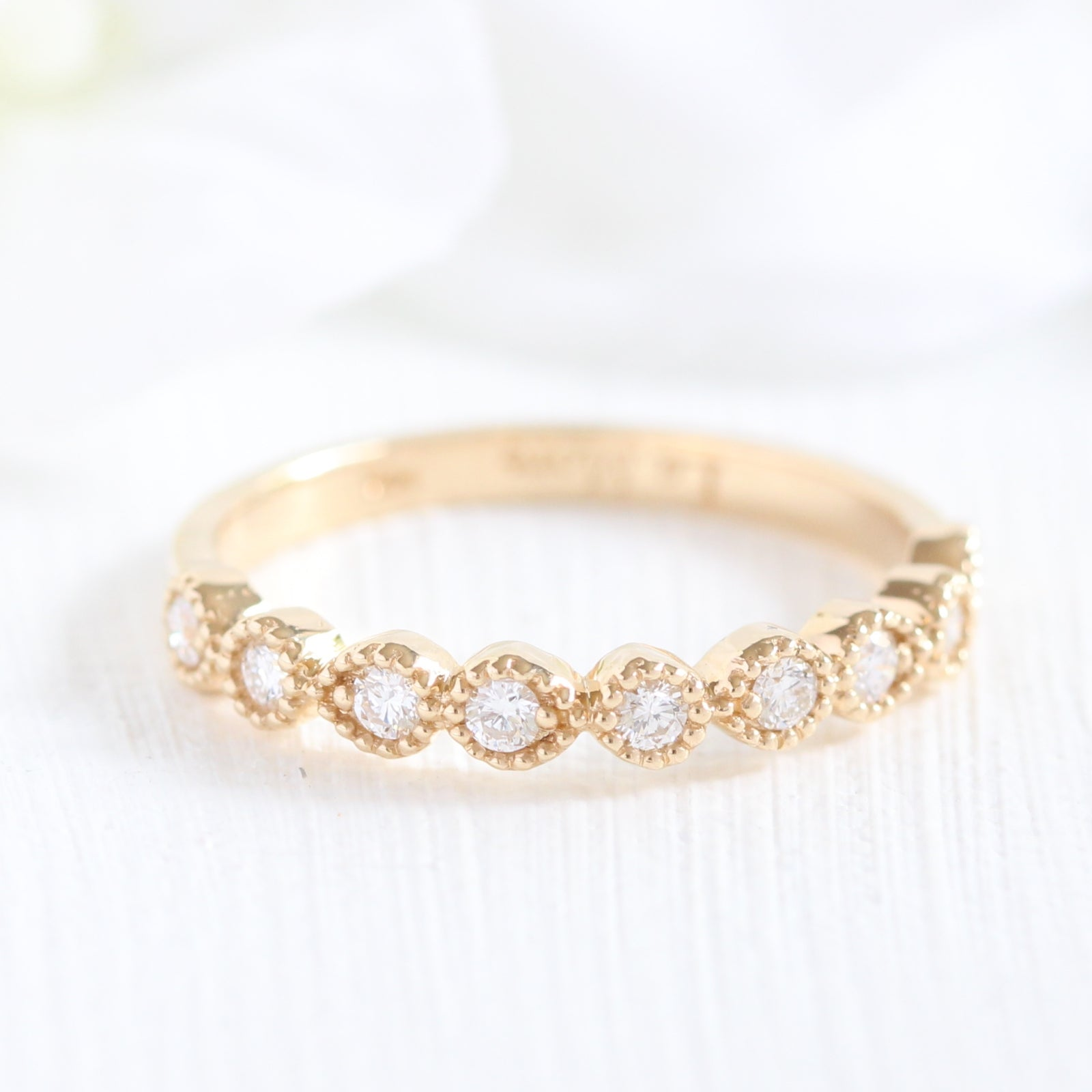 amore diamond halo and princess milgrain rings white round ring gold wedding cien re products