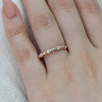 diamond wedding ring pebble band rose gold by la more design