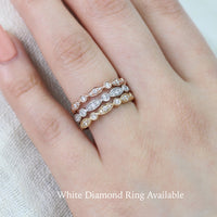 diamond wedding band in rose gold bezel set anniversary ring by la more design jewelry