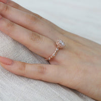 forever one moissanite pebble ring rose gold diamond band by la more design
