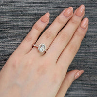 green amethyst ring vintage floral engagement ring scalloped diamond band rose gold by la more design