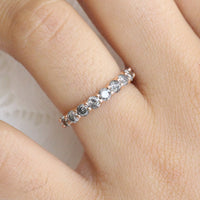 large gray diamond wedding ring rose gold salt and pepper diamond ring by la more design jewelry