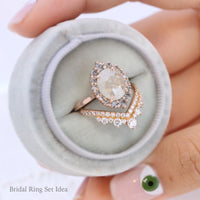 large salt and pepper diamond ring rose gold grey diamond ring halo diamond engagement ring bridal set la more design jewelry