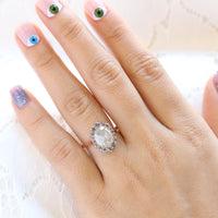 large salt and pepper diamond ring rose gold grey diamond ring halo diamond engagement ring la more design jewelry