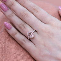 morganite halo oval ring rose gold diamond engagement ring by la more design