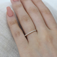 pave diamond wedding ring yellow gold band by la more design