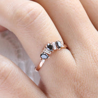 pear and baguette diamond ring rose gold stacking diamond wedding band by la more design jewelry