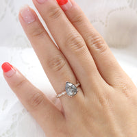 pear salt and pepper diamond ring rose gold pear solitaire grey diamond ring la more design jewelry