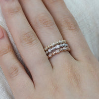 diamond wedding ring pebble band rose gold white gold yellow gold by la more design