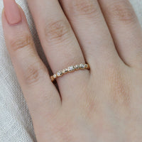 pebble diamond ring yellow gold by la more design