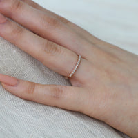 rose gold diamond ring half eternity band by la more design