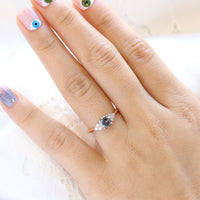 salt and pepper diamond engagement ring rose gold 3 stone ring grey diamond ring la more design jewelry