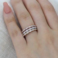 Scalloped diamond wedding band in rose gold white gold yellow gold by la more design