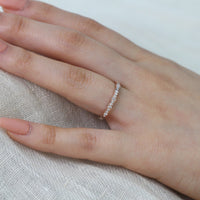 scalloped diamond wedding ring rose gold by la more design