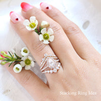 stacking engagement rings rose gold wedding band by la more design jewelry