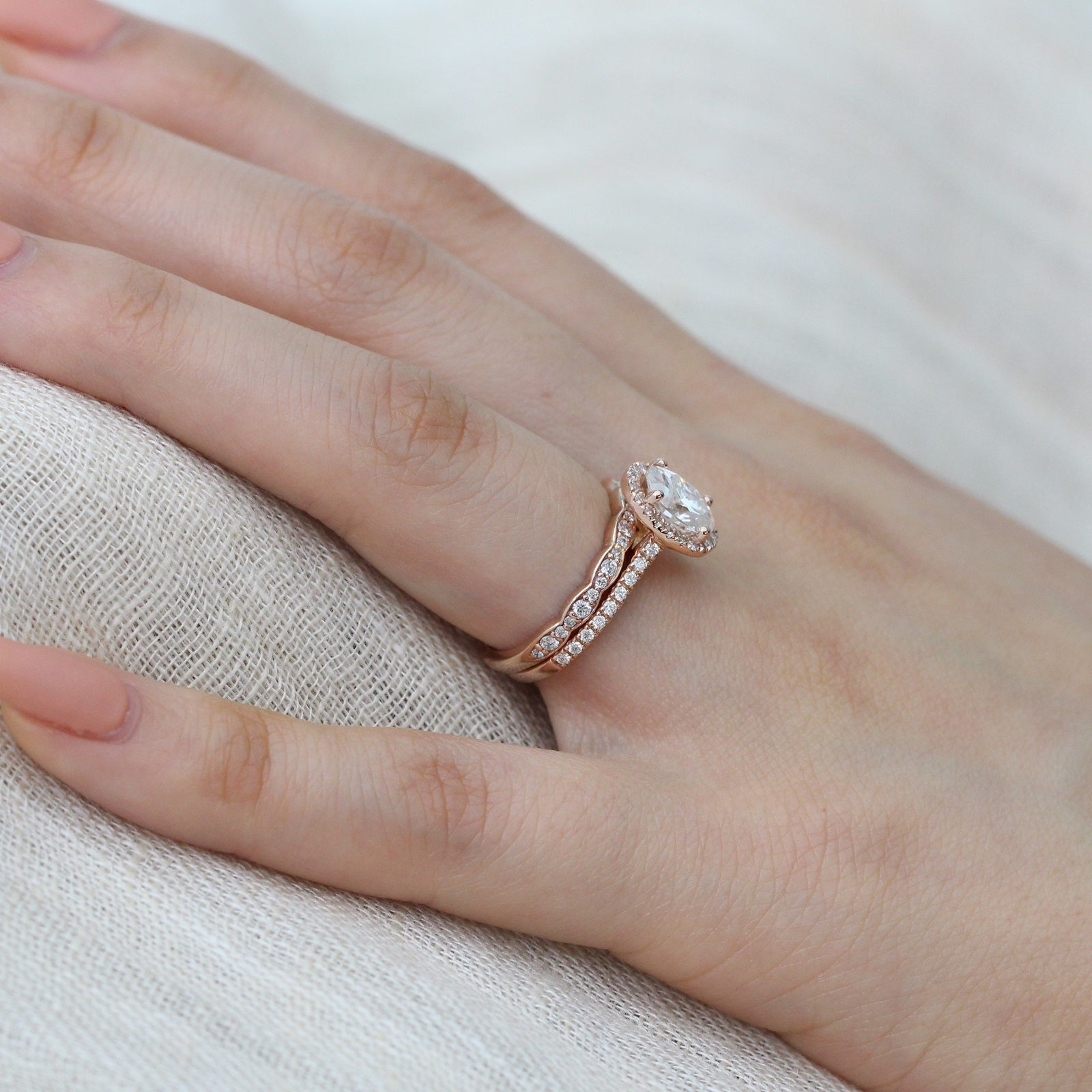 Scalloped Diamond Wedding Band In White Gold By La More Design Share On Facebook Tweet Twitter Pin It Pinterest: Rose Gold Scalloped Diamond Wedding Band At Websimilar.org