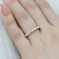 bezel set half eternity band diamond ring yellow gold by la more design