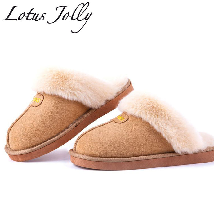 12c284aa5be60b LOTUS JOLLY - Winter Plush Backless Slippers (5 colors)~