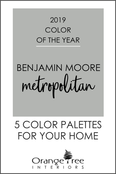 2019 Color of the Year Benjamin Moore Metropolitan Color Schemes