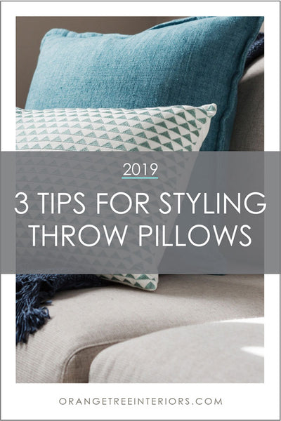 3 Tips for Styling Throw Pillows