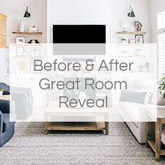 before and after great room reveal