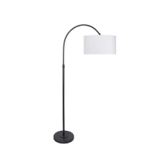 Black Contemporary Arched Floor Lamp
