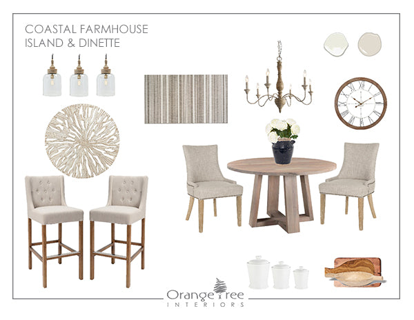 Coastal Farmhouse Island & Dinette Concept Design