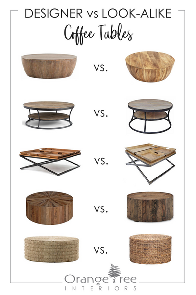 designer vs. look-alike coffee tables
