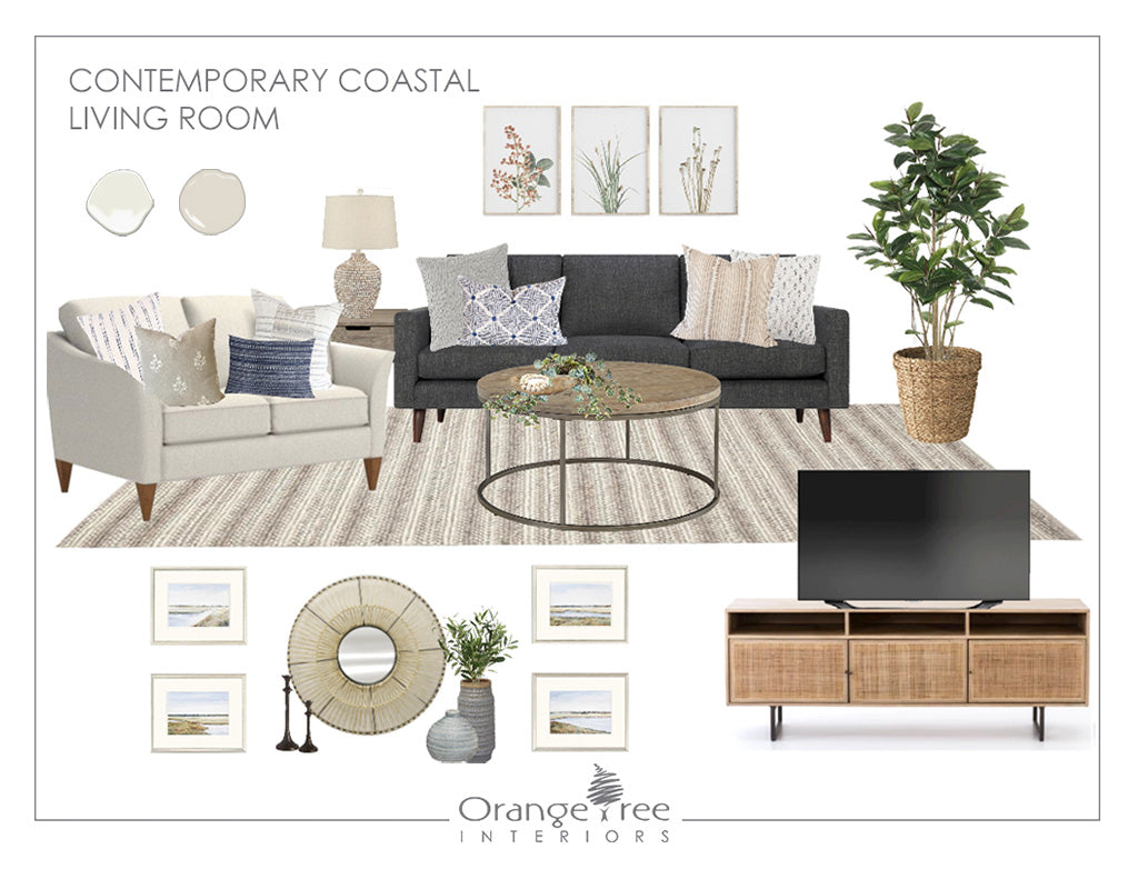 Contemporary Coastal Living Room