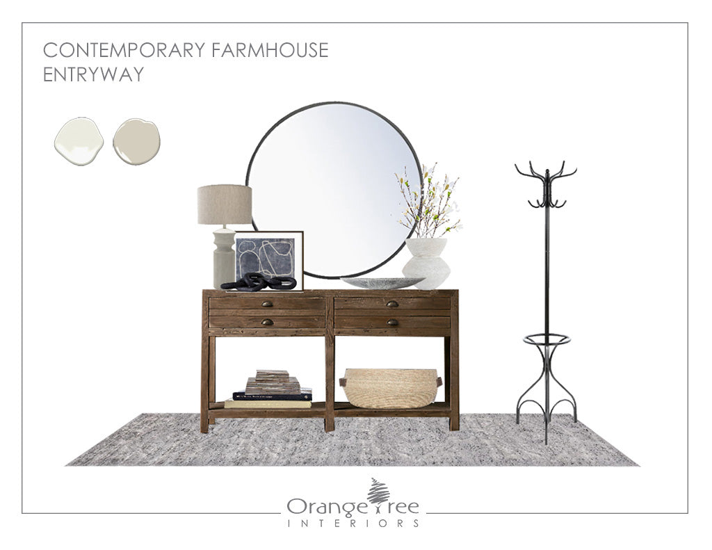 Contemporary Farmhouse Entryway eDesign Concept