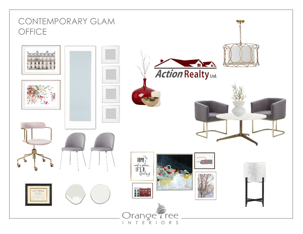 Contemporary Glam Office