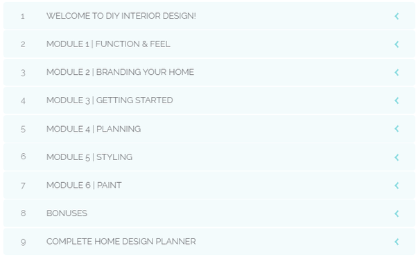 Online Interior Design Course Curriculum