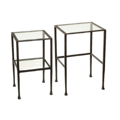Glass Nesting Side Tables