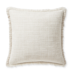 Ivory Frill Throw Pillow