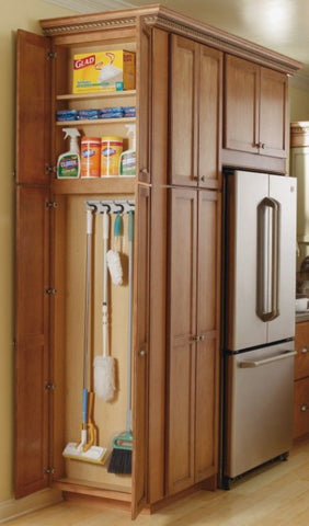 Narrow End Cabinet in Small Kitchen