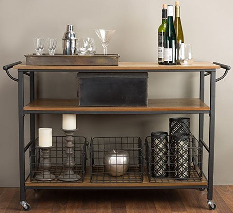 roll-away kitchen cart for small kitchen