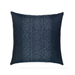 Printed Navy Blue Pillow