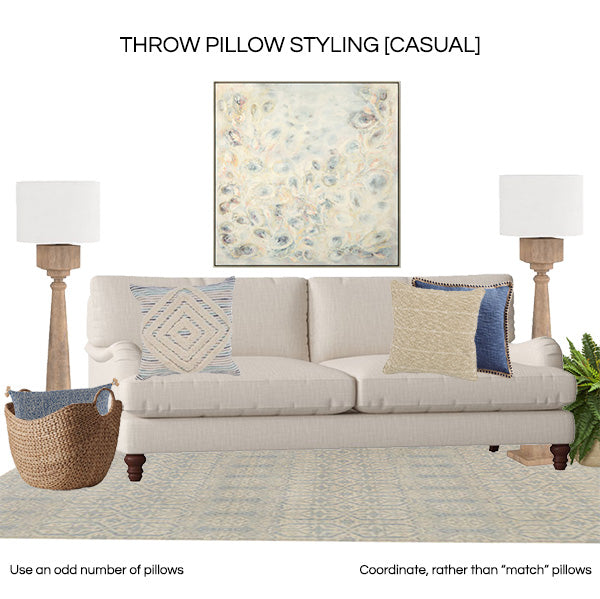 Throw pillow styling 2019 - CASUAL