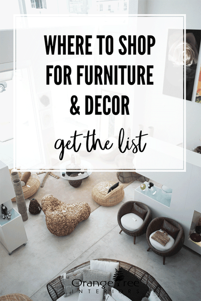 where to shop for furniture and decor 2019