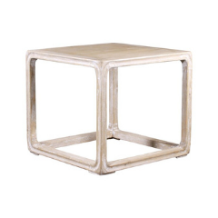 White Washed Wood Side Table