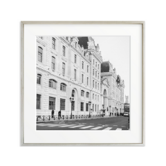 black and white photography building framed art