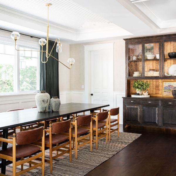 Mixing Dark and Light Wood Tones Dining Room 2021