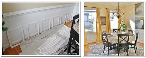 Decorating on a budget - faux wainscoting